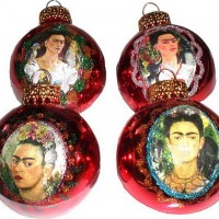 Painted Frida Ornaments