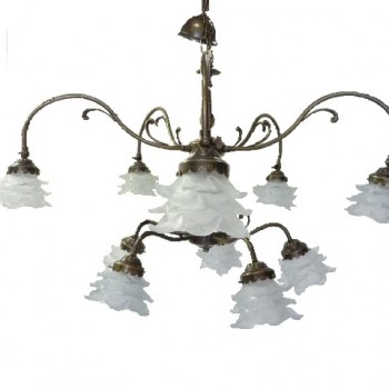 10 Light Tulip Chandelier