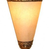 15in Brass & Soft White Paper Lantern