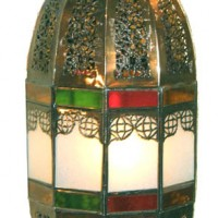 26in Frosted Glass Lantern