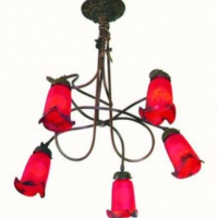 5 Tulip Roundabout Chandelier