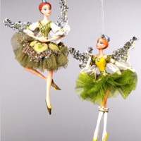 Ballerina Fairy Ornaments