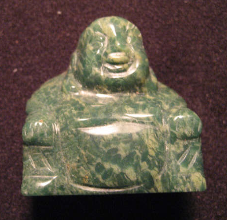 Carved African Jade Buddha