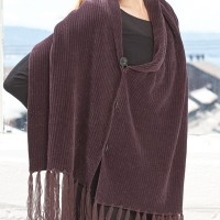 Chenille Tasseled Cape
