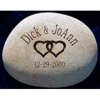 Custom Etched Wedding Stone