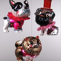 Cute Dogs in Hats Ornaments