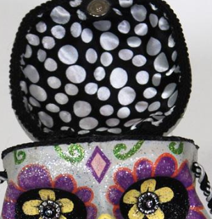 Day of Dead Open Mind Purse, detail
