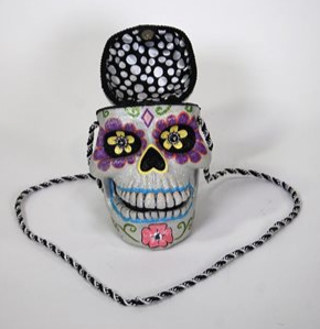 Day of the Dead Open Mind Purse