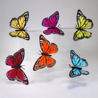 Feather Butterfly Clips