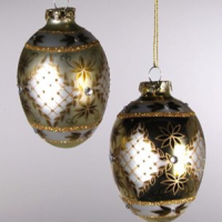 Glass Egg Christmas Ornaments
