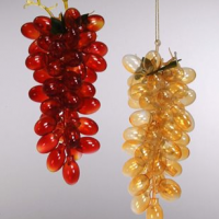 Glass Grape Bunch Ornament