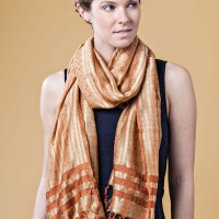Gold Cloth Wrap Scarf