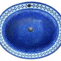 Moroccan Blue Mosaic Sink Top