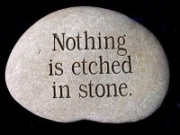 Nothing is Etched in Stone Garden Rock