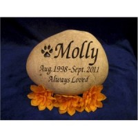 Pet Memorial Etched Rock