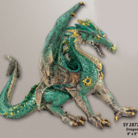 Rearing Dragon Figurine