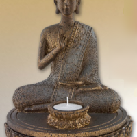 Seated Buddha Candle Statuette