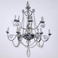 Silver Chandelier Ornament