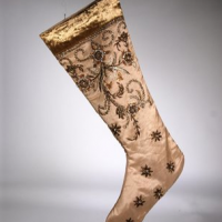 Velvet Snowfall Christmas Stocking