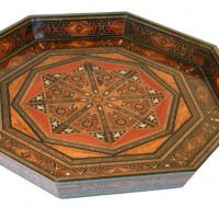 Wood Mosaic Tray