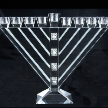 11in Crystal Rambam Menorah