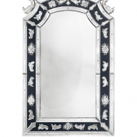 18th Century Style Two Tone Venetian Mirror
