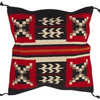 24x24 Wool Tapestry Pillow 854