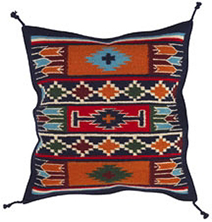 24x24 Wool Tapestry Pillow 877