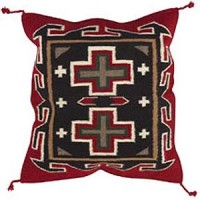 24x24 Wool Tapestry Pillow 881