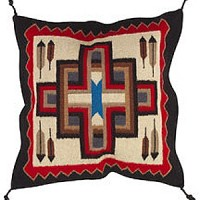 24x24 Wool Tapestry Pillow 885