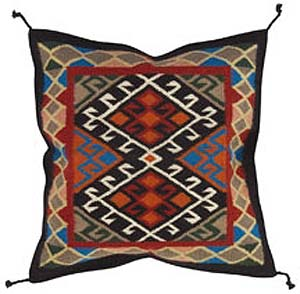 24x24 Wool Tapestry Pillow 890