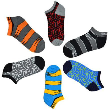 3D Blocks Kids Socks 6-Pack