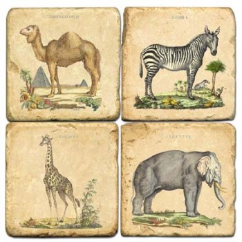 African Animals Terracotta Tiles