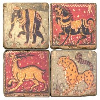 Animals of India Terracotta Tiles
