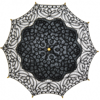 Black Lace Cotton Parasol