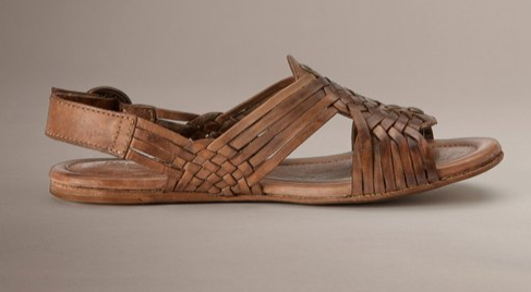 Brown Leather Huarache Sandal