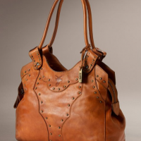 Burnished Leather Shoulder Bag