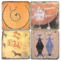 Cave Painting Terracotta Tiles
