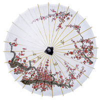 Cherry Blossom Rice Paper Parasol