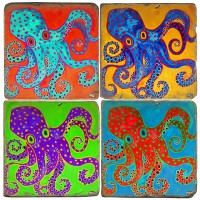 Colorful Octopus Terracotta Tiles