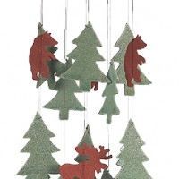 Dancing Bear Ceramic Windchime