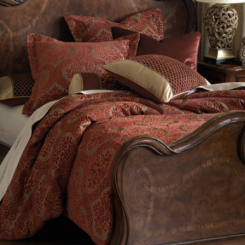 Deep Ruby Velvet Bedding