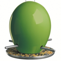 Easy Fill Porcelain Egg Bird Feeder
