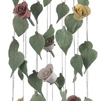 English Rose Ceramic Wind Chimes