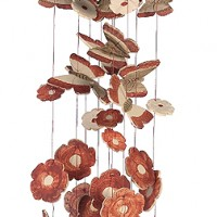Fluttering Butterfly Ceramic Windchime