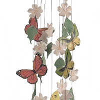 Fly Free Butterfly Ceramic Windchimes