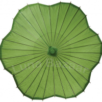 Green Blossom Rice Paper Parasol