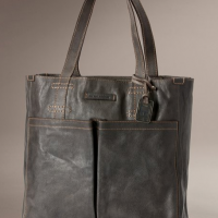 Hammered Leather Tote Bag