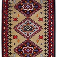 Hand-Tufted Wool Rug 6x9, even more detail
