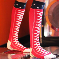 High Top Sneaker Socks, detail